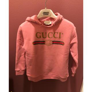 グッチ(Gucci)のGUCCI 正規品 36m パーカー pink(ジャケット/上着)