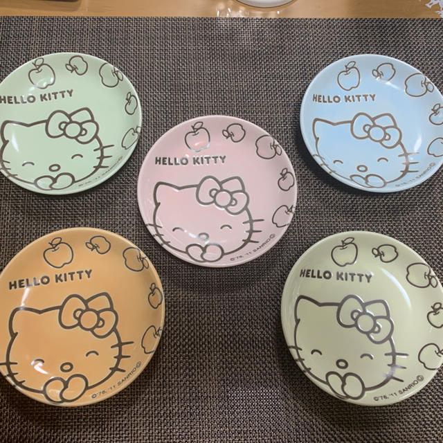 ハローキティ(ハローキティ)のハローキティ 皿 小皿 食器 インテリア/住まい/日用品のキッチン/食器(食器)の商品写真