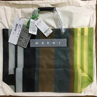 Marni - 新品 マルニフラワーカフェ トートバッグ ストライプバッグ ソフトベージュ