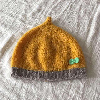 プティマイン(petit main)のDECO どんぐり帽子 ニット帽子(帽子)