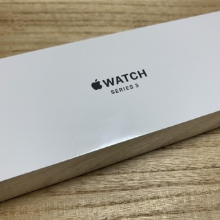 Apple Watch - 【新品未開封】Apple watch3 42mm GPSシルバー、ホワイトベルト