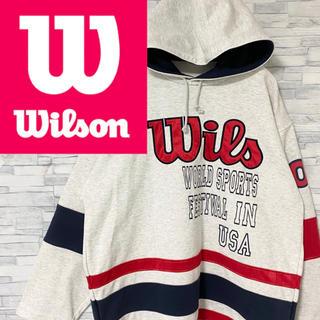 ウィルソン(wilson)のwilson ウィルソン パーカー デカロゴ 袖ロゴ M(パーカー)
