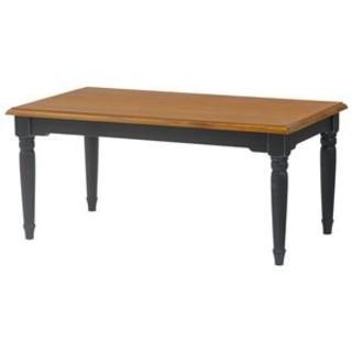 リビングテーブル【長方形/幅90cm】 木製 シャビーシックブラック(黒)(ローテーブル)