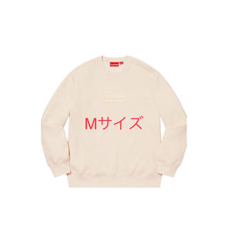 シュプリーム(Supreme)のsupreme Cutout Logo Crewneck Natural M(スウェット)