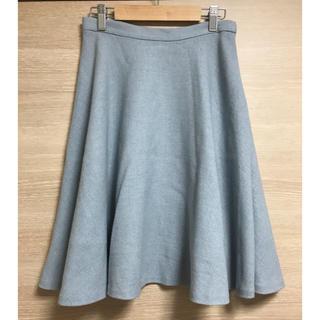 イエナスローブ(IENA SLOBE)のお値下げ♡イエナ スローブ フレアスカート 水色 S(ひざ丈スカート)