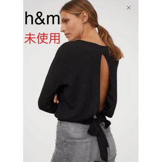 エイチアンドエム(H&M)の【未使用】H&M タイヘムクレープトップス(カットソー(長袖/七分))