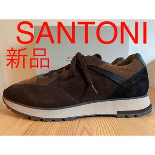 サントーニ(Santoni)の新品 SANTONI サントーニ ラグジュアリー レザースニーカー マルチカラー(スニーカー)