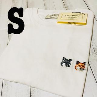 メゾンキツネ(MAISON KITSUNE')の新品/タグ付き/男女兼用/メゾンキツネTシャツ/Sサイズ(Tシャツ(半袖/袖なし))