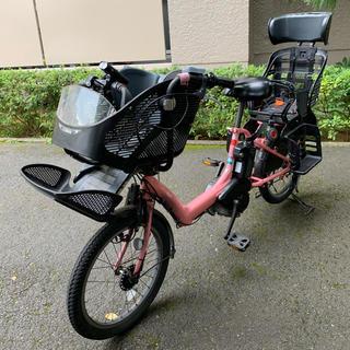 ヤマハ(ヤマハ)のYAMAHA ヤマハ 子ども乗せ電動アシスト自転車 ピンク ジャンク 3人乗り(自転車本体)