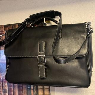 コーチ(COACH)の美品 COACH 約80000円 COACH 2wayフルグレインレザービジネス(ビジネスバッグ)