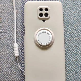 Xiaomi Redmi Note 9s リング内蔵シリコンケース(白)