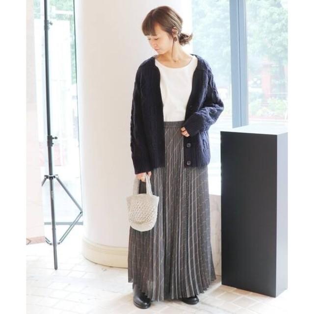 IENA SLOBE(イエナスローブ)のhanahana様専用❄️18AW超美品チェックプリーツスカート38 レディースのスカート(ロングスカート)の商品写真