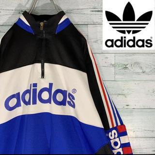 adidas - 《激レア》90s アディダスオリジナルス ハーフジップ プルオーバー ビッグロゴ