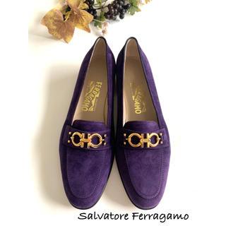 サルヴァトーレフェラガモ(Salvatore Ferragamo)の【フェラガモ】スウェードビットローファー 26.5センチ(ローファー/革靴)