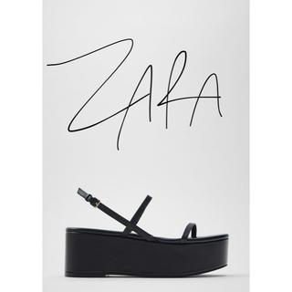 ZARA - 27日までの限定お値下げ‼︎ZARA 細幅ストラップ ウェッジソール サンダル