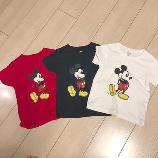 UNIQLO - UNIQLO ミッキー Tシャツ 100