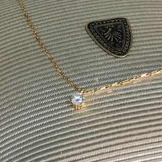 agete - agete アガット ダイヤネックレス K18 0.05ct