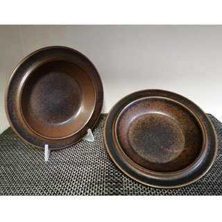 ARABIA - Arabia/アラビア ルスカ スープ プレート 深皿 20cm 2枚 ①