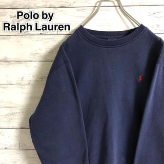 POLO RALPH LAUREN - 【大人気】ポロラルフローレン☆刺繍ワンポイントロゴ ネイビー スウェット