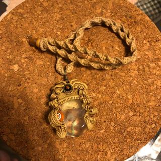 天然石 ヘンプ編み ハンドメイドネックレス