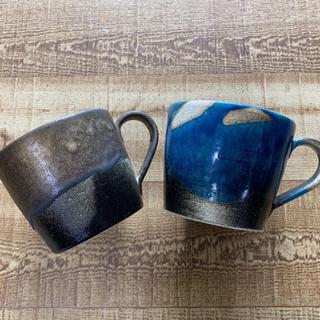 タリーズコーヒー(TULLY'S COFFEE)のタリーズコーヒー 信楽焼マグカップ 2個セット(グラス/カップ)