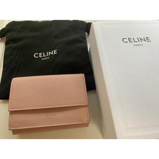 celine - セリーヌ 三つ折り 財布 ミニウォレット  ピンク 正規品