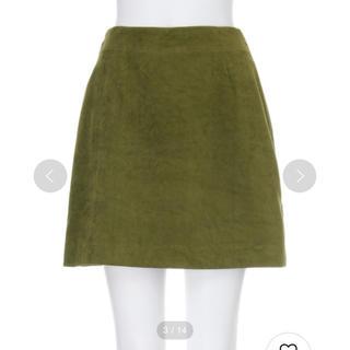ムルーア(MURUA)のムルーア スウェードミニスカート スエード カーキ 台形スカート sly (ミニスカート)