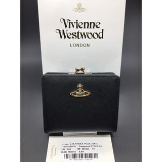 Vivienne Westwood - ヴィヴィアンウエストウッド Vivienne がま口 財布 新品 黒