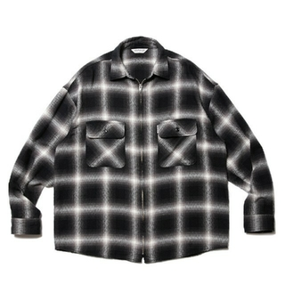COOTIE - Ombre Nel Check Zip Up Shirt