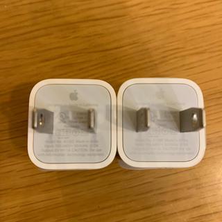 アイフォーン(iPhone)のiPhone 純正アダプター 2個セット(変圧器/アダプター)