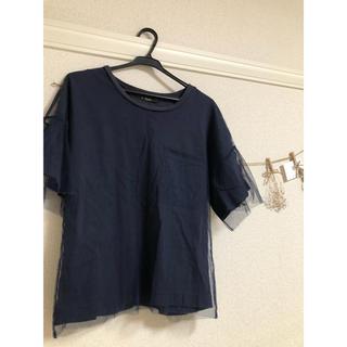ダブルクローゼット(w closet)のwcloset チュールTシャツ(Tシャツ(半袖/袖なし))