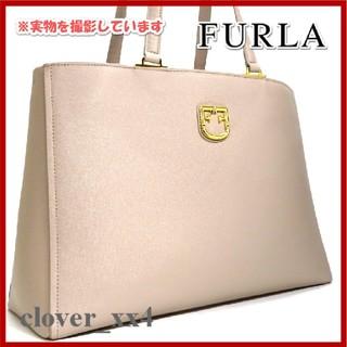 フルラ(Furla)のフルラ トートバッグ A4 美品 新型 ロゴ 2019 ベージュ FURLA(トートバッグ)