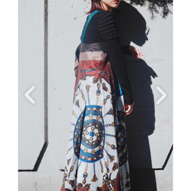 Ameri VINTAGE(アメリヴィンテージ)のアンスリード オリガミスカーフワンピース レディースのワンピース(ロングワンピース/マキシワンピース)の商品写真