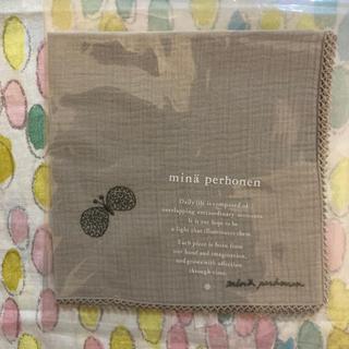 ミナペルホネン(mina perhonen)の新品・未使用 ミナペルホネン ハンカチ choucho ライトグレー(ハンカチ)