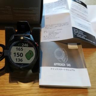 ☆20%オフ☆ガーミンアプローチS40GPSゴルフウォッチナビ+ガラスフィ(腕時計(デジタル))