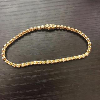 美品 高級 k18 ダイヤ テニスブレスレット 1.00ct 約9g