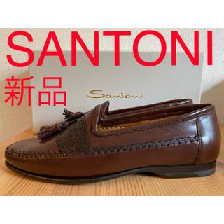 サントーニ(Santoni)の新品 SANTONI サントーニ タッセルローファー モカシン スネーク型押し(スリッポン/モカシン)