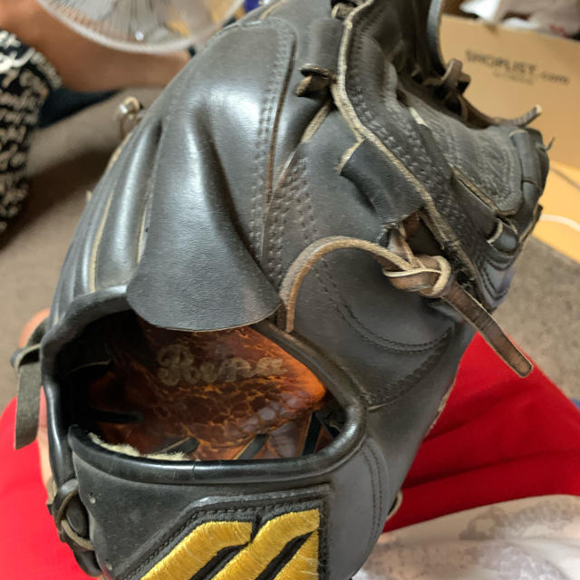 MIZUNO(ミズノ)の「apple5様専用 黒田選手実使用 硬式投手用グローブ ミズノプロ スポーツ/アウトドアの野球(グローブ)の商品写真