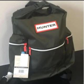 ハンター(HUNTER)の新品・タグ付 HUNTER トップクリップ バックパック ラージ ダークオリーブ(リュック/バックパック)