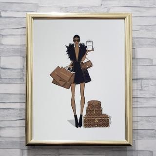 インテリアポスター A4サイズ オマージュアート ルイヴィトン