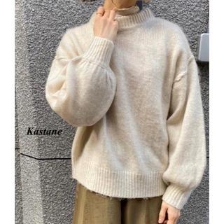 Kastane - 新品 Kastane 起毛モヘアタッチハイネックニット