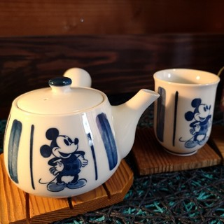 Disney - ディズニー ミッキー ティーポット 急須 茶器セット