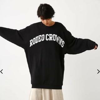 ロデオクラウンズワイドボウル(RODEO CROWNS WIDE BOWL)のRODEOCROWN☆スエット☆ワンピース☆美品☆FREE☆ロデオ(ひざ丈ワンピース)