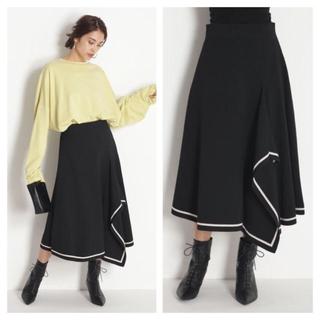 Mila Owen - ミラオーウェン ロングスカート ニットスカート 黒