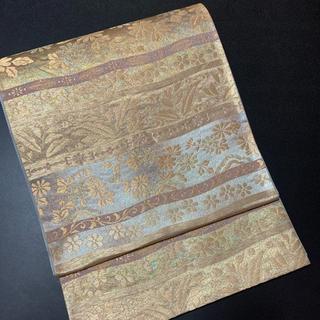 ㊗️正絹唐織袋帯㊗️六通㊗️ 花横段文㊗️金銀糸㊗️
