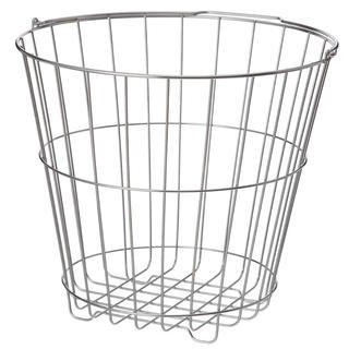 ムジルシリョウヒン(MUJI (無印良品))のステンレスランドリーバスケット・大 約直径42×高さ37.5cm(バスケット/かご)