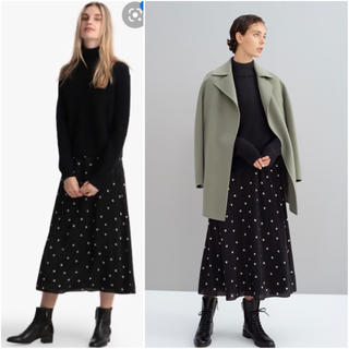 theory - Theory シルク ミディ丈スカート 19AW