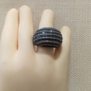 ブラック&ホワイト クリスタルリング(♯15)(リング(指輪))