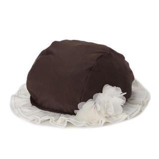 プティマイン(petit main)の新品未使用プティマインpetit mainお花フリルスイミングキャップ水泳帽(帽子)