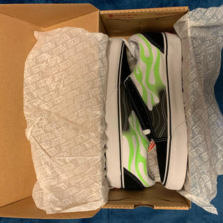 ヴァンズ(VANS)のvans old skool  flame green 26cm(スニーカー)